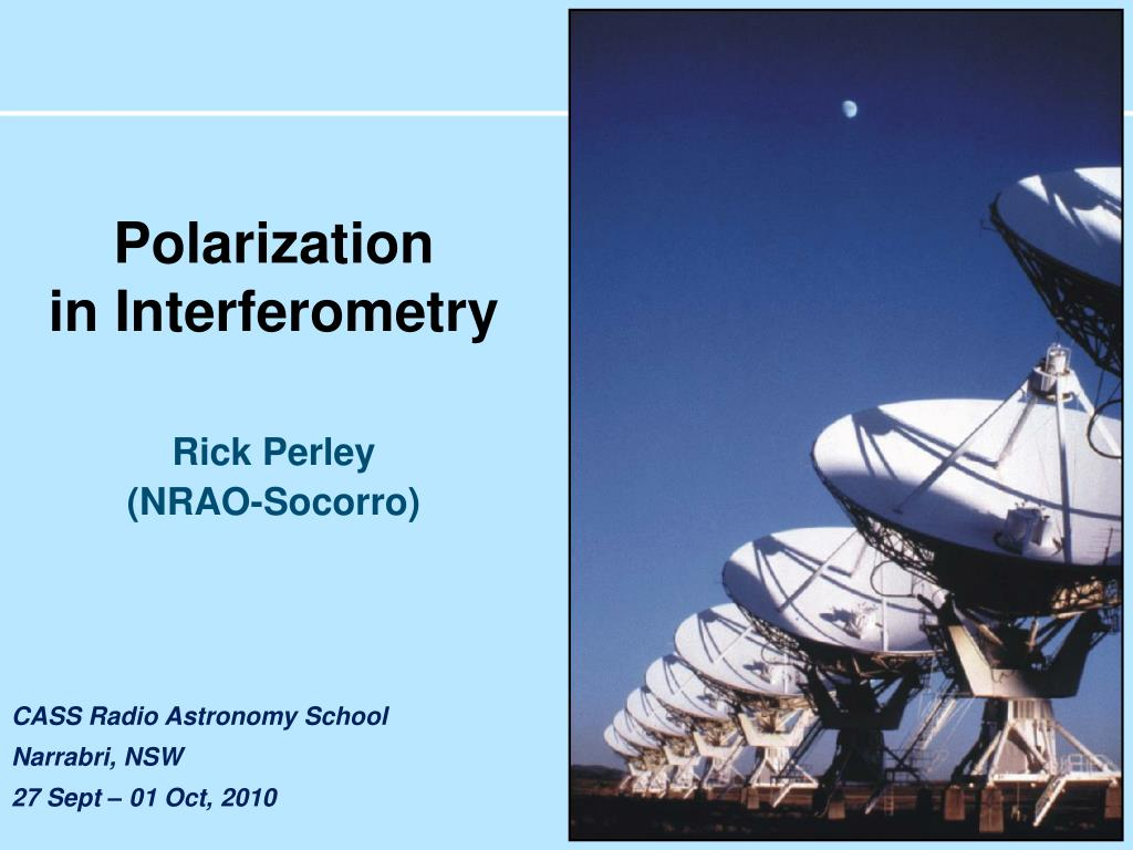 polarization in interferometry l.