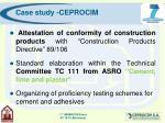 case study ceprocim21