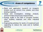 ceprocim areas of competence