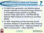 ex cost actions in urban and transport development with romanian participation9