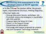 monitoring and assessment in the strategic plans of ectp agenda