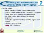 monitoring and assessment in the strategic plans of ectp agenda11