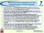 monitoring and assessment in the strategic plans of ectp agenda13