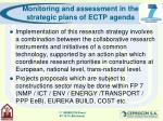 monitoring and assessment in the strategic plans of ectp agenda7