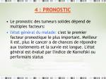 4 pronostic