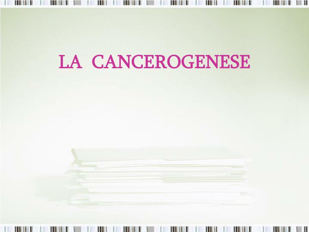 la cancerogenese l.