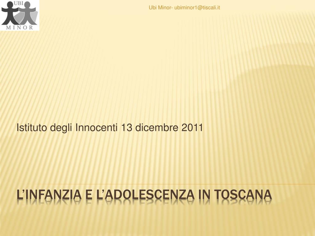 istituto degli innocenti 13 dicembre 2011 l.