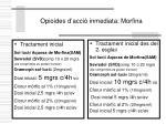 opioides d acci inmediata morfina