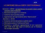le sentenze della corte costituzionale