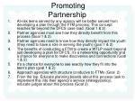 promoting partnership