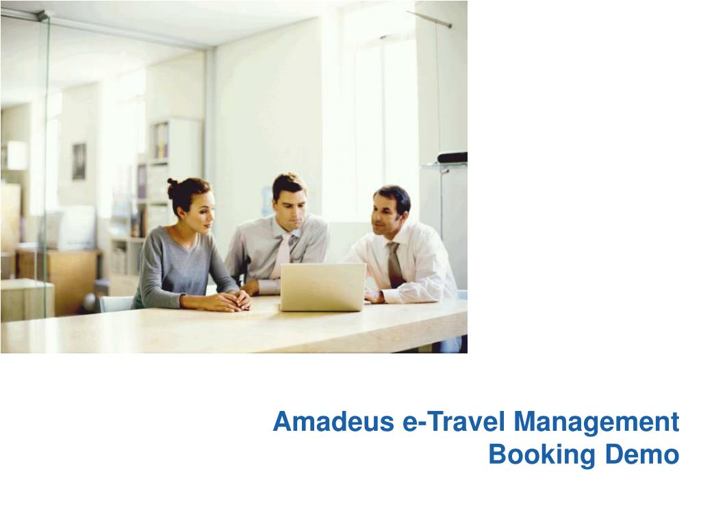 amadeus e travel management booking demo l.