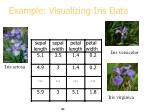 example visualizing iris data
