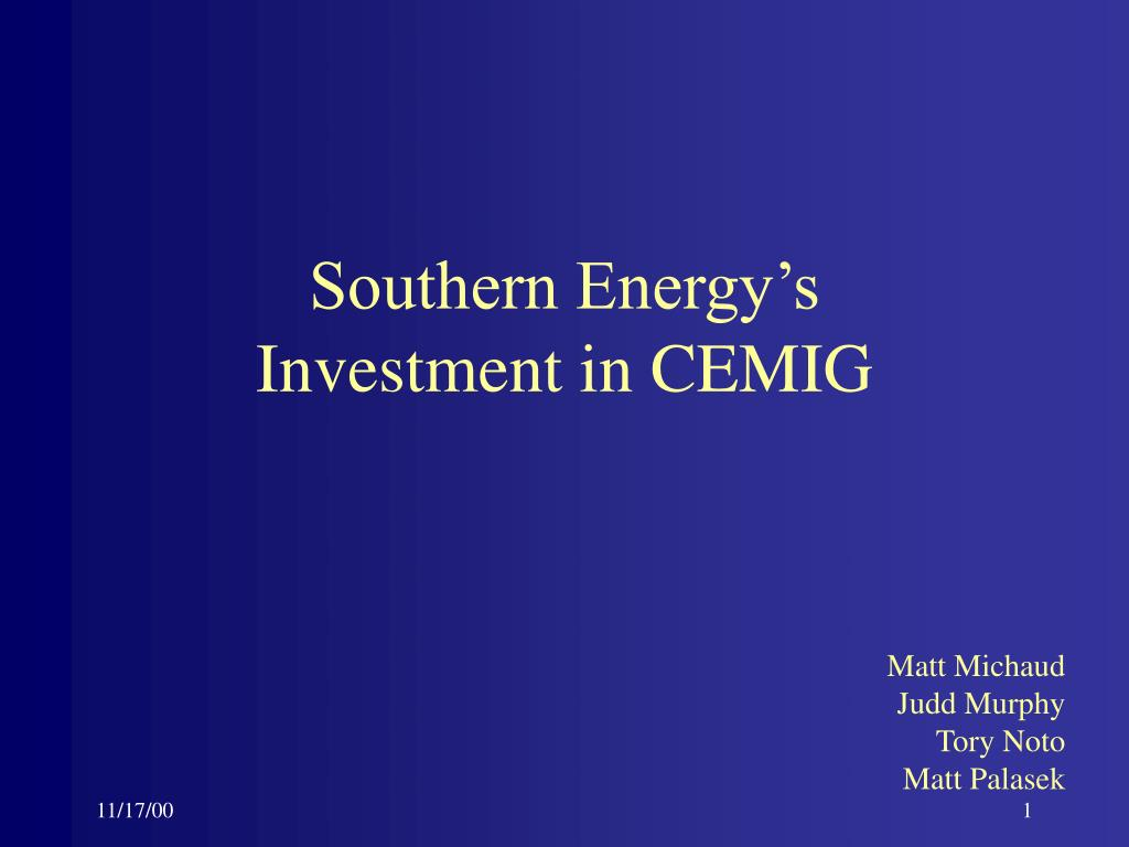 southern energy s investment in cemig l.