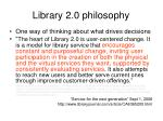 library 2 0 philosophy