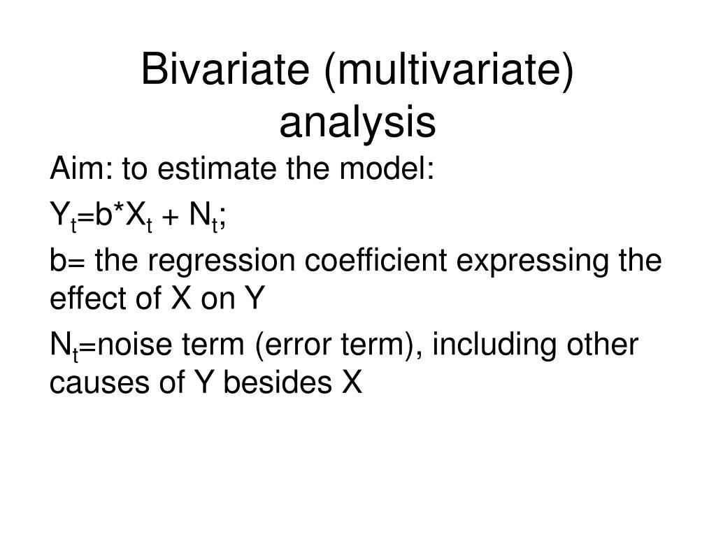 bivariate multivariate analysis l.