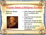 virginia statute of religious freedom