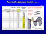 proximal alignment results table 2