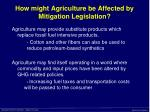 how might agriculture be affected by mitigation legislation24