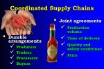 coordinated supply chains