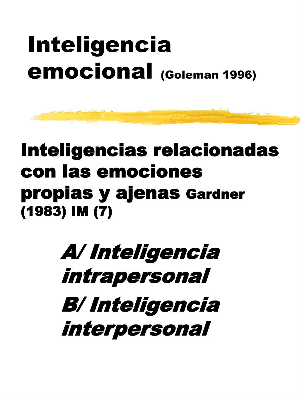 inteligencia emocional goleman 1996 l.