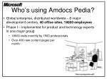 who s using amdocs pedia