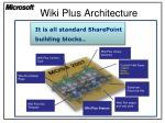 wiki plus architecture