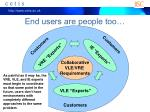 end users are people too