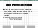 scale drawings and models