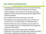 care homes and dementia
