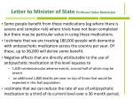 letter to minister of state professor sube bannerjee