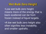 wet bulb zero height