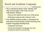 social and academic language