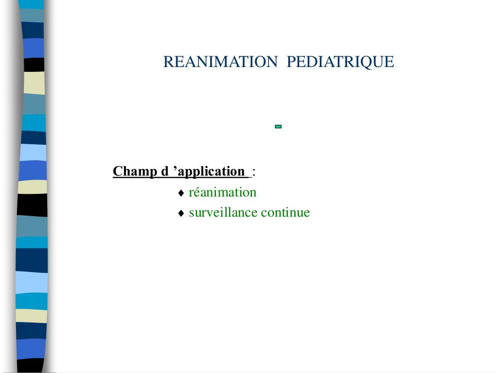 reanimation pediatrique l.