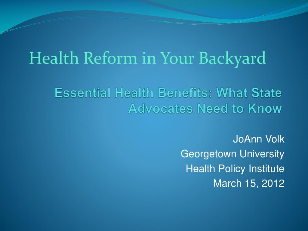 essential health benefits what state advocates need to know l.