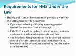 requirements for hhs under the law