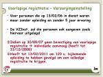 voorlopige registratie verzorgingsinstelling