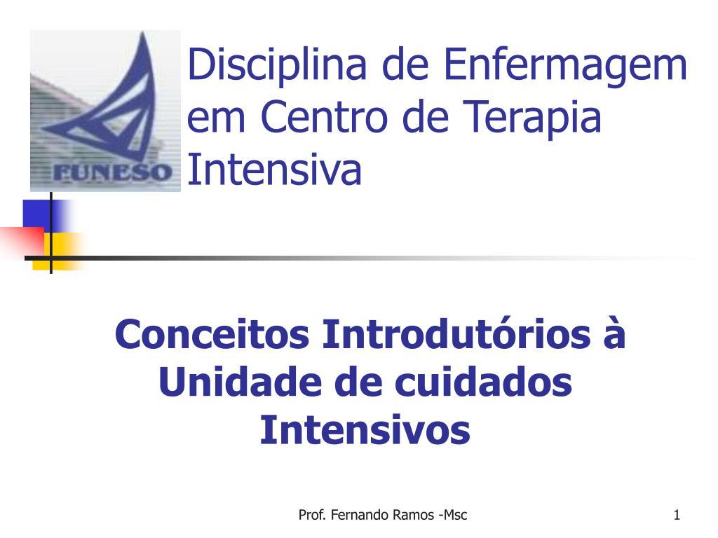 disciplina de enfermagem em centro de terapia intensiva l.