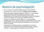 notions de psychologie 3