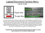 laptop document camera menu laptop usage