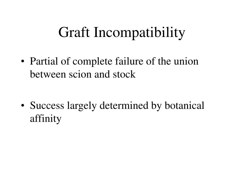 Graft Incompatibility