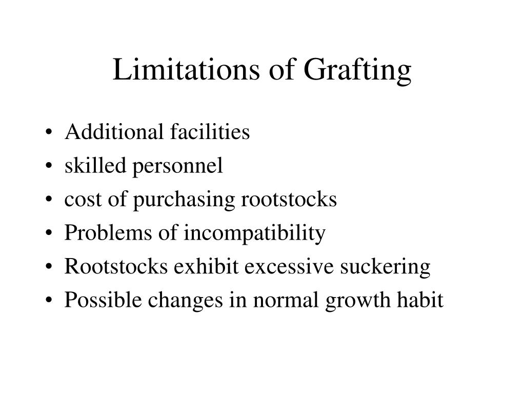 Limitations of Grafting