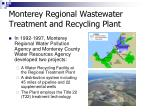 monterey regional wastewater treatment and recycling plant