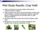 pilot study results crop yield