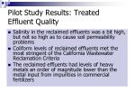 pilot study results treated effluent quality