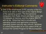 instructor s editorial comments