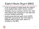 explicit route object ero