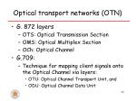 optical transport networks otn