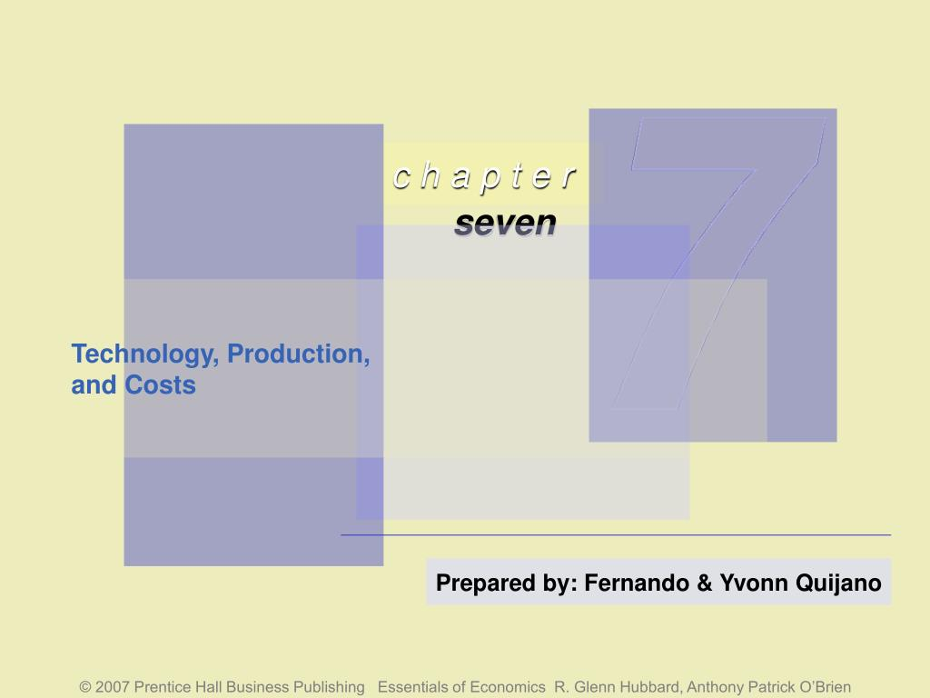 technology production and costs l.