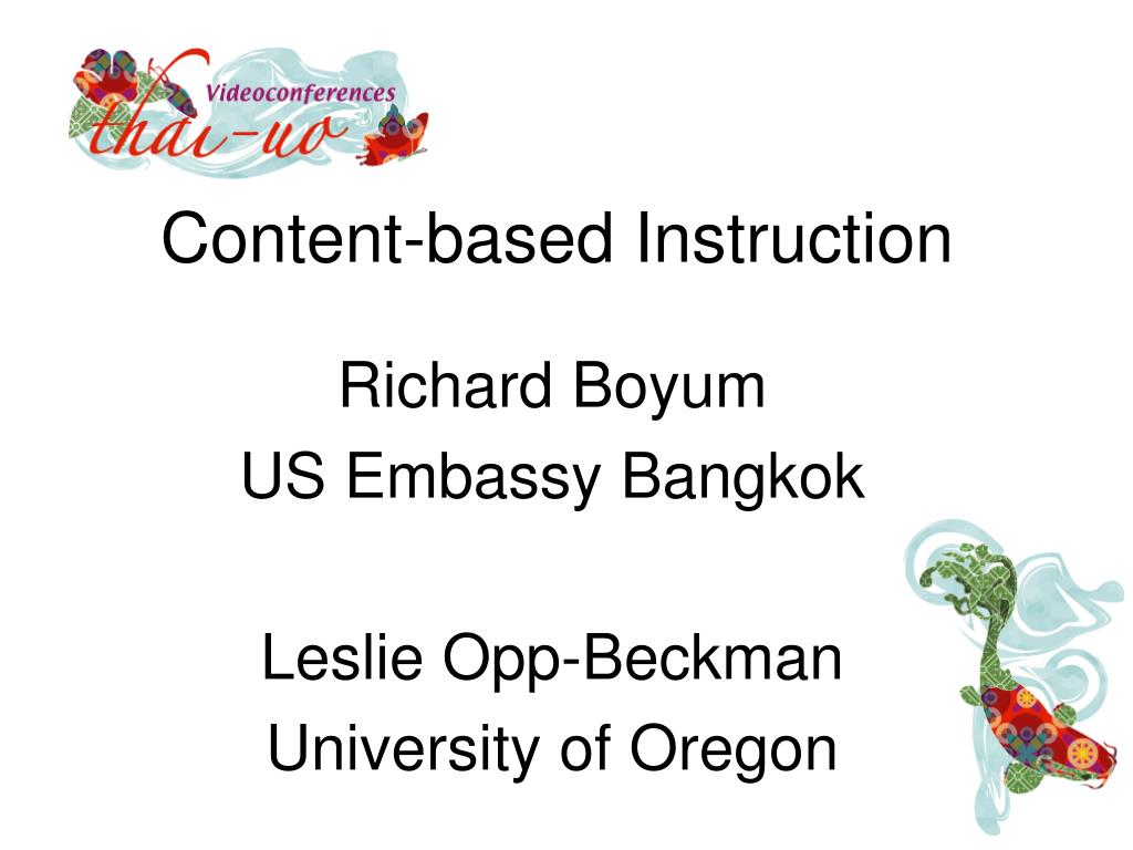 content based instruction l.