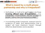 what is meant by a multi player partnership and why is it important